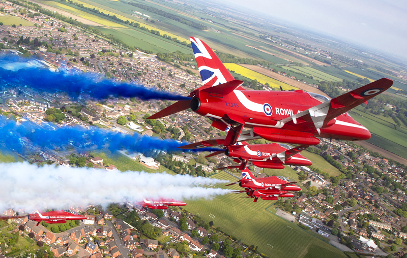The Red Arrows Flypast